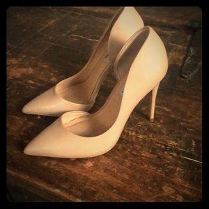Steve Madden nude matte heels pointed toe pumps